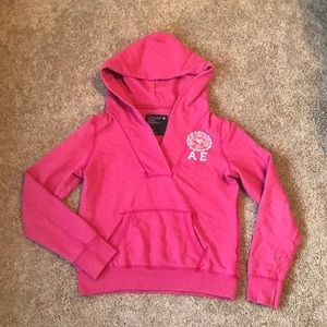 Pink American Eagle Sweatshirt Hoodie Med